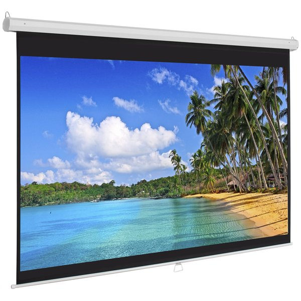top popular Pull Down Manual Projector Screen - White 2019