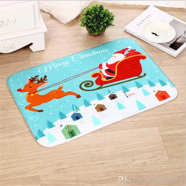 Weihnachten Bodenmatte Küche Badematten Weihnachten designs Rutschfeste Saugfähige Wasserdichte Wohnkultur 33 Arten 40 * 60 cm 2017