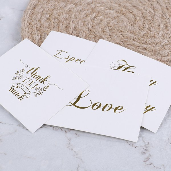 Valentine Happy Birthday Christmas Party Mini Gold Embossed Thank You Card Wedding Invitation Letter Greeting Cards E Greetings E Greetings Card From