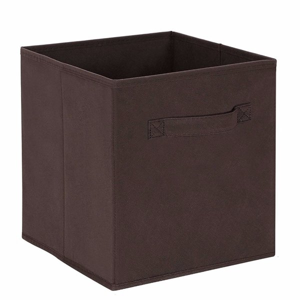 new Cube Non-woven Fabric Folding Storage Bins for books Underwear Bra Socks clothes Organizer toys Storage box Large Baskets