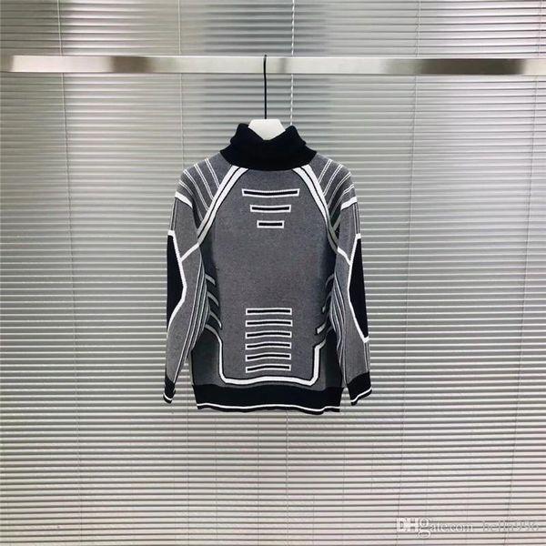 NEW Mens designer sweater fashion hip hop style High collar lapel women 100% woollen sweater luxury Cotton Casual Coat