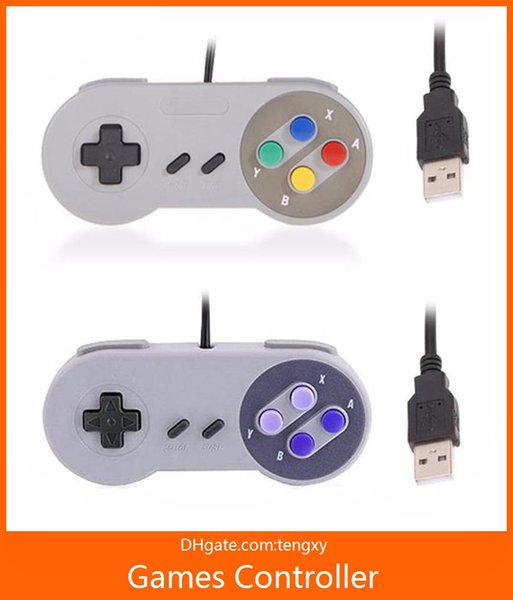 Retro Wired Super for SNES USB Controller Gaming Joypad Joystick for PC Window 7/8/10 Gamepad Mac factory sales