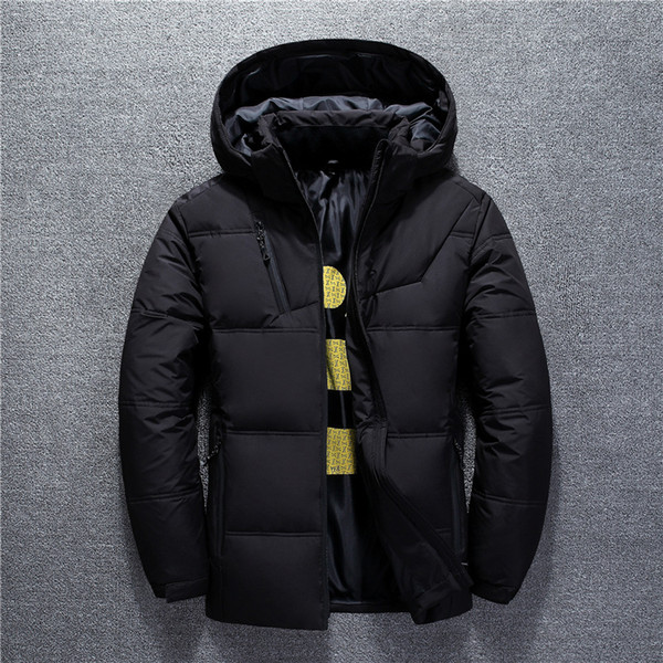 BO 2019 inverno novos homens jaqueta breve parágrafo tampa removível virada para baixo do casaco da juventude