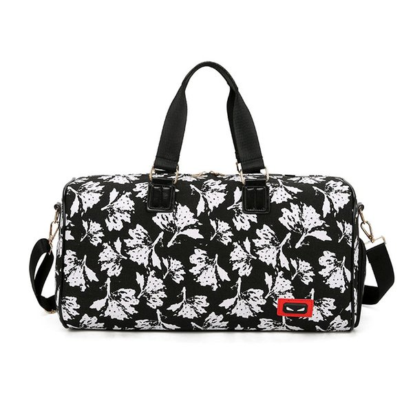 Women Waterproof printed Fitness Travel Handbag Outdoor Separate Space unisex sports creative large capacity bag QQA422