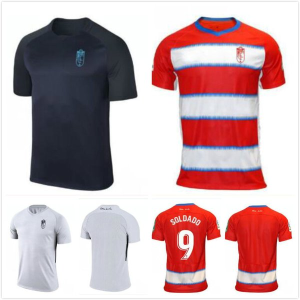 2019 2020 Granada Soccer Jersey 19 20 Granada Home Red # 14 F.VICO Soccer Shirt PUERTAS VADILLO POZO Uniforme de fútbol personalizado