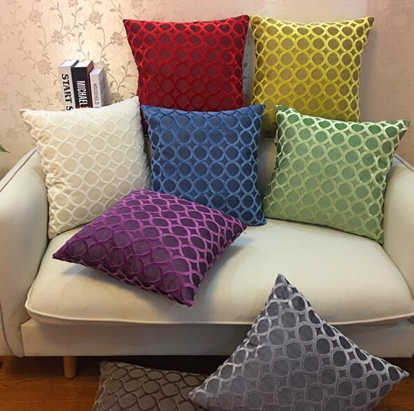 Square Velvet Pillow Covers Fashion Thicken Soft Throw Pillow Case Sofa Pillows Chair Pillow Cases Home Decorative Pillowcase GGA2435
