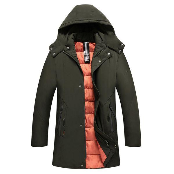Men Jacket Mens Men's Autumn Winter Jackets Male Pure color Pocket Open a hat Zipper Hooded Jacket Top Coat Casual Mens Male Coa