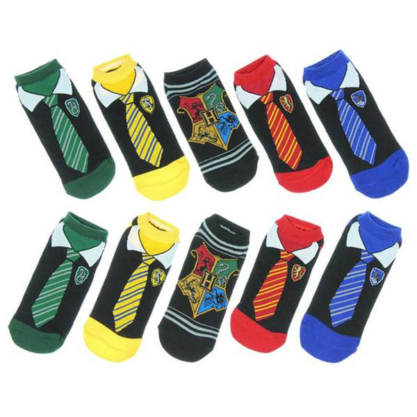 해리 포터 발목 양말 커플면 양말 슬리퍼 만화 코스프레 타이 저 스타킹 그리핀도르 슬리데린 짧은 양말 여름 양말 판매