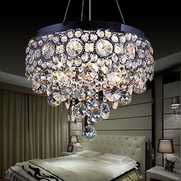 Lámparas de araña de cristal led modernas que iluminan lámparas colgantes de cristal K9 Dinging Room Light Fixture Lustre Lámparas para restaurantes Lumniare