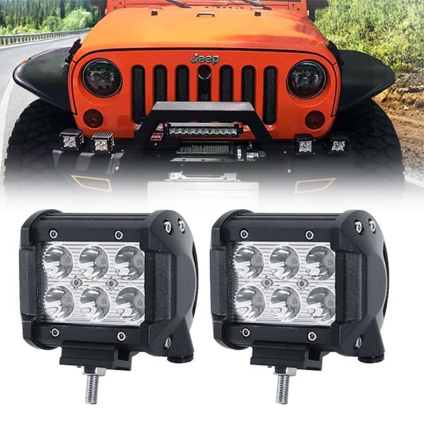 4inch 18w led light bar spot offroad led work light 12 volt ip67 driving for 4x4 trucks off road atv truck boat utv