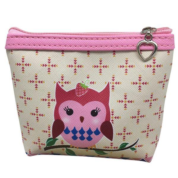Womens Owl PU Nette Geldbörse Brieftasche Kartenhalter Geldbörse Clutch Handtasche Bolsa Infantil Menina Kinder