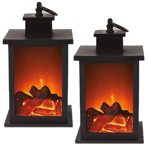 best selling Fireplace LED Burning Effect Lantern Light Lamp Durable For Garden Lawn Bedroom
