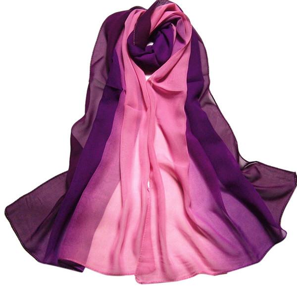 9 Color Fashion Chiffon Scarf Women Long Wraps hijab scarf Lady Spring Autumn Scarves Bandana Hijab Stoles foulard femme#H20