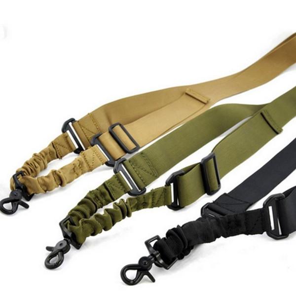 Outdoor Nylon Tactical Sling One Point Bungee strap regolabile per caccia cinghia elastica staccare moschettone con fibbia a sgancio rapido