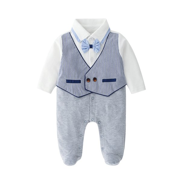 0-24months Newborn Baby Boy Romper Striped Overalls Jumpsuit Clothes Onesies kid clothing toddler clothes baby costume