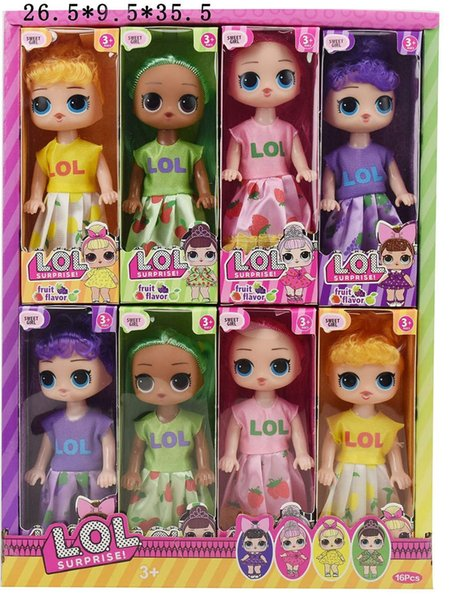 Hot 6 inch Classic lol doll with Fruity Aroma doll cute lol doll the most popular girl toy exquisite gift hottest toys LL407