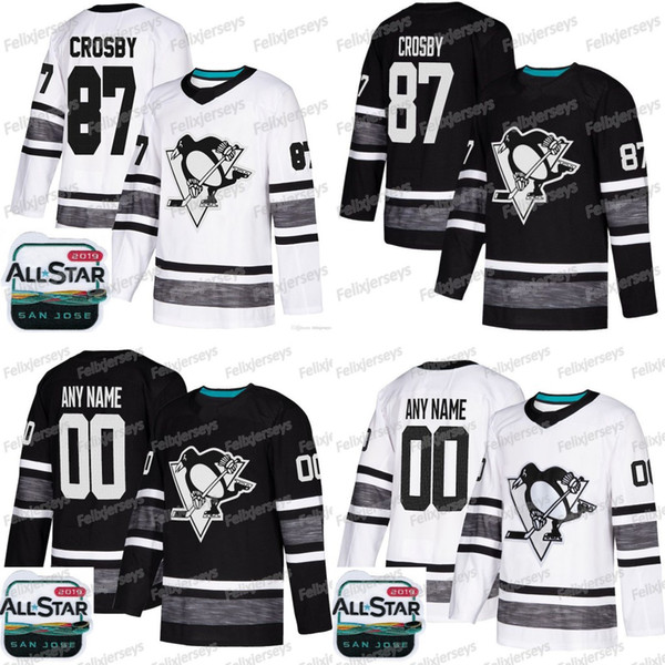 2019 All Star Marcus Pettersson Pittsburgh Penguins Sidney Crosby Jake Guentzel Evgeni Malkin Phil Kessel Kris Letang Matt Murray Jersey