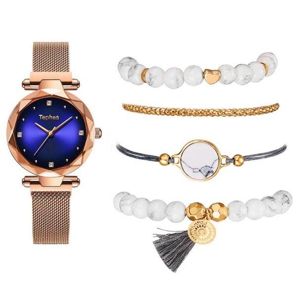 Bracelet bleu-or