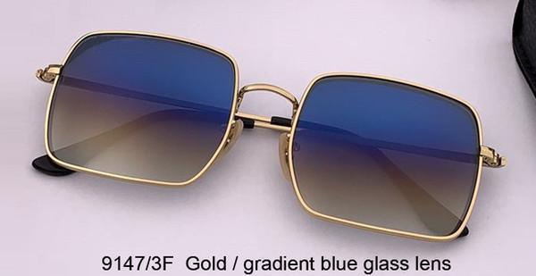 الذهب / التدرج عدسة الزجاج الأزرق
