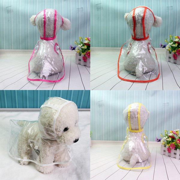 Dog raincoat spring and summer loaded Teddy small dog pet VIP puppy raincoat transparent raincoat pet clothes waterproof
