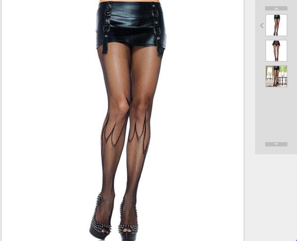 Halloween uniform matching sexy stockings women's sexy stockings demon flame black pantyhose
