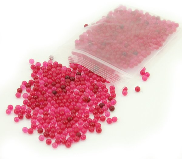 bead 500 pcs / Bag Pearl Dark Pink vase filler Shaped Crystal Soil Water Beads Mud Grow Magic Jelly Balls Home Decor