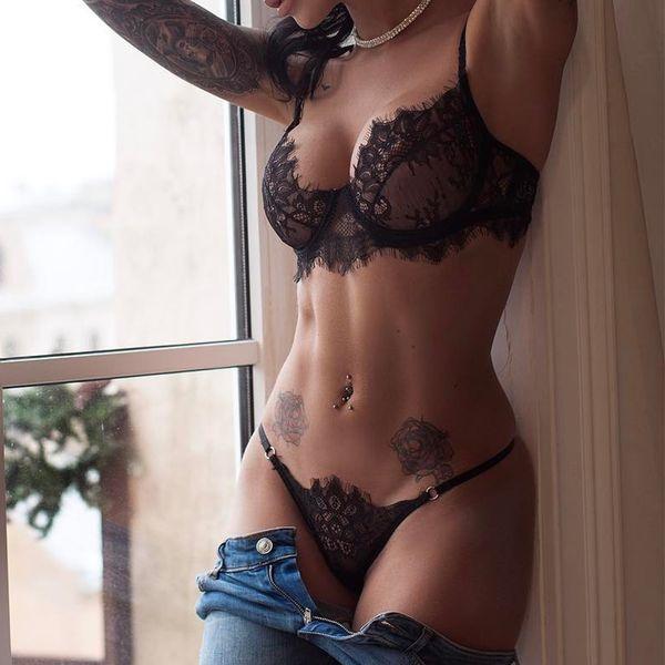 2019 HOT sexy soutien-gorge ensemble dentelle transparente push up femmes lingerie bralette sans soudure thong culotte fil mince sous-vêtements lenceria