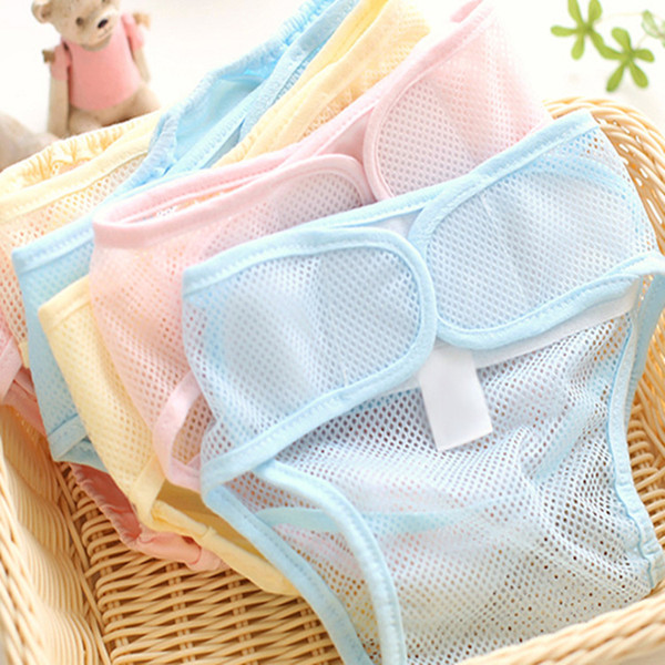 best selling Summer Baby diaper pocket Neonatal mesh cloth diaper can be washed &used repeatedly diaper pants breathe