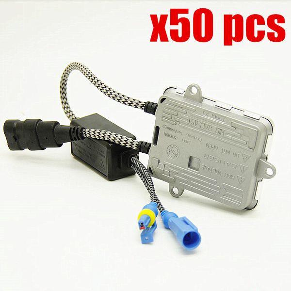 50pcs fast bright AC 12v 55w hid ballast for XENON H7 H11 9005 9006 H4 headlight hid block