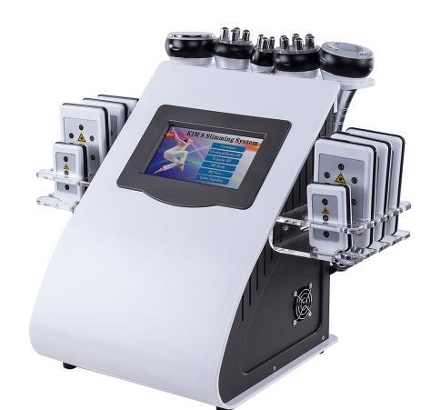 Nuova macchina per radiofrequenza a vuoto a cavitazione calda 6 in 1 per macchina dimagrante laser lipo Spa a 8 pastiglie