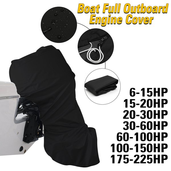 top popular LOONFUNG LF263 Boat Full Motor Cover Outboard Engine Protector for 6-225HP Boat Motors Waterproof 2020