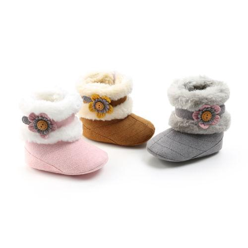 Toddler Baby Boy Girl Winter Warm Slippers Boots Prewalker Slip on Shoes Fashion New WRound Toe Cotton Boot Shoes 0-28M