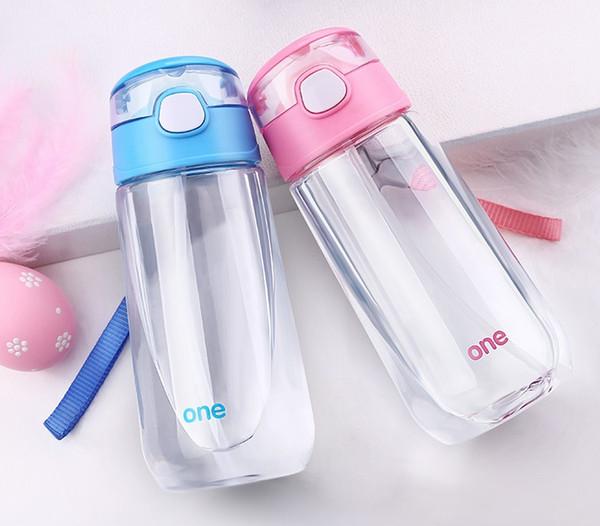 500 мл Экологически чистые Детские Бутылки с Водой Пластиковая Соломенная Чашка Портативный Герметичный Чайник для Детей Бесплатная Доставка WB783