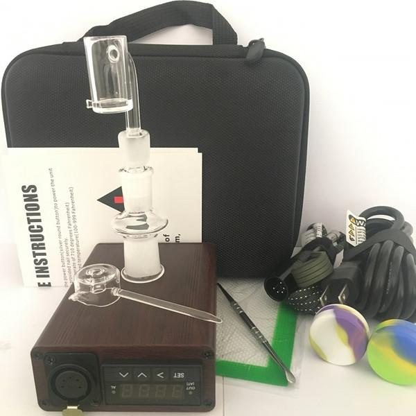 2019 Quartz ENail kit Electric Dab Nail Box E Nail dab banger Carb Cap 14 18 MM Male PID Tep Rig glass Bongs
