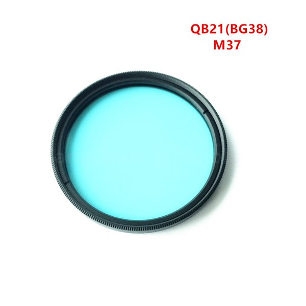 37mm Camera IR Cut Filter QB21 BG38 Blue Optical Glass used for photography color correction