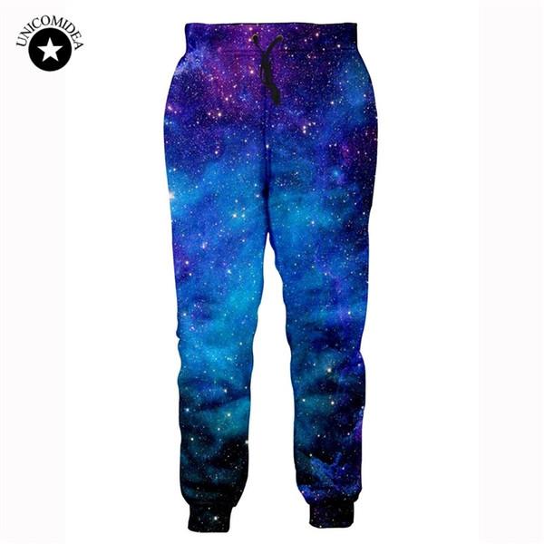 2019 Moda Hip Hop Joggers Pantolon Erkek Kadın Streetwear Uzun Pantolon Sweatpants 3d Galaxy Baskı Pantalon Hombre Parça Erkek Giysileri