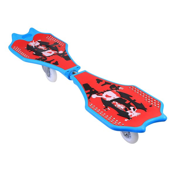 Ancheer New 2 wheels Skateboard kids scooter Child Caster Board Plastic Deck Skateboard With Light Up Wheels with Carrying Bag