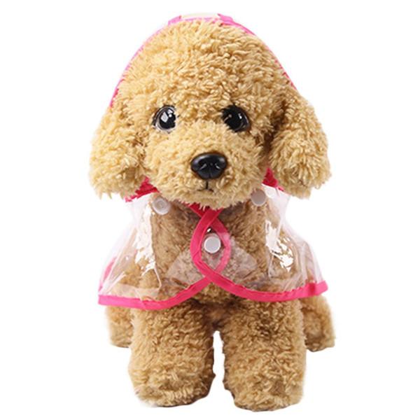 Прозрачный Pet Dog Плащ ПВХ Водонепроницаемый Плащ Pet Puppy