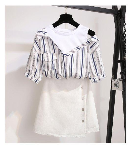 falda blanca superior