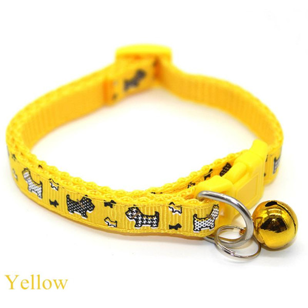 Soft Nylon Dog Collars Pet Collars With Bells Colorful Necklace Collar For Little Pet Dogs Pet Products