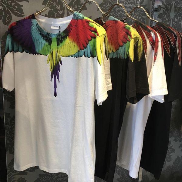 Marcelo Burlon T-shirt Uomo Donna 1: 1 di alta qualità Contea di Milano Ali Marcelo Burlon Maglietta Top Tee Marcelo Burlon T-shirt