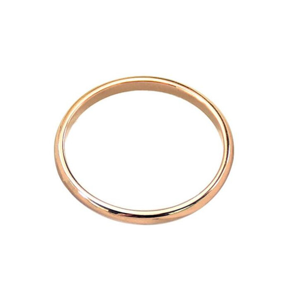 Fashion High Polished Stainless Steel Edge-rounded Band Ring 316 Surgical Titanium Lover Couple Ring IP Plated Colors Engagement Ring