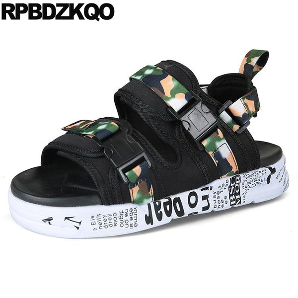 Casual Mesh Waterproof Black Shoes Mens Sandals 2018 Summer Outdoor Sneakers Nice Platform Sport Beach Designer Strap Japanese #184256