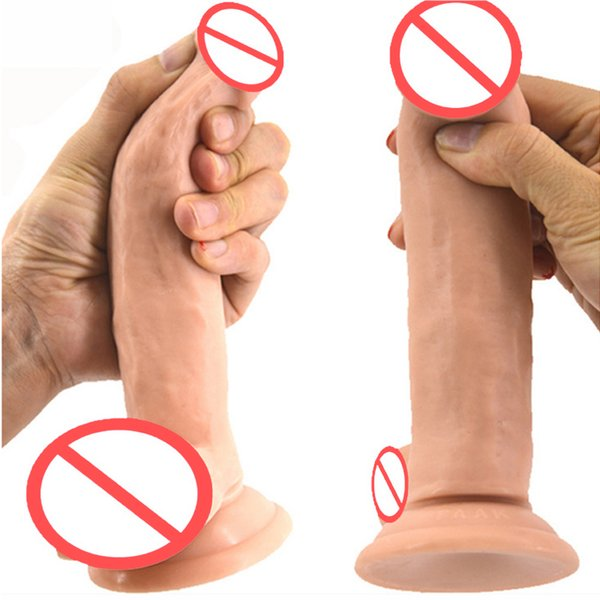 17cm Realistic Dildo Suction Cup With Testis Silicone Male Fake Penis Adult Sex Toys For Women Female Masturbator