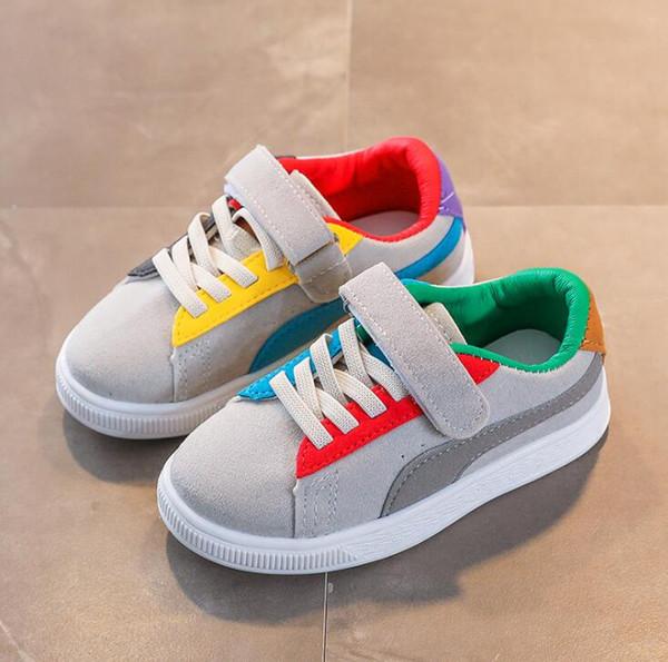 e3566cc5189 Crianças Esporte Sapatos Outono Inverno Nova Moda Respirável Crianças  Meninos Sapatos Meninas Anti-Escorregadio Tênis