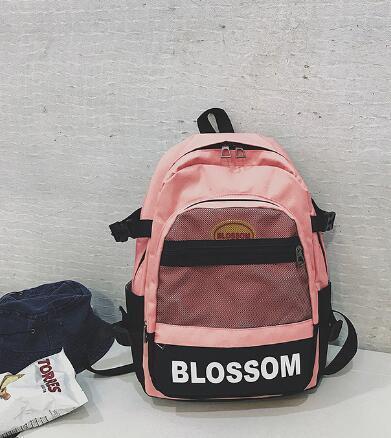 Version coréenne de sac à dos d'écolière étudiante School Bag Canvas sac d'ordinateur de grande capacité
