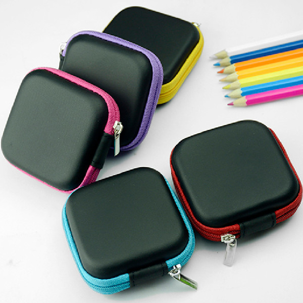 Fashion Square Hand Spinners Case EVA Earphones Container Bags Data Lines Box Multi Function Fidget Spinner Bag Boxes 7.5*3cm 1 7gm