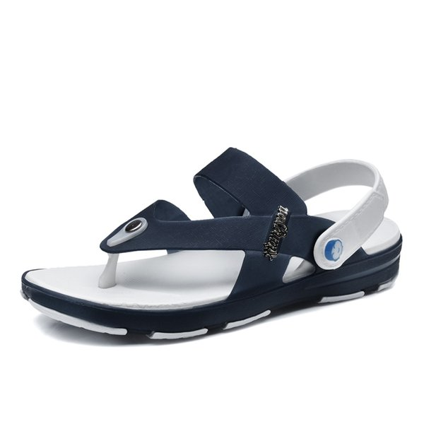 Flip Flops Sandals New Summer Men's Shoes Non-slip Men's Sandals And Slippers Fashion Casual Wear Beach Shoes Hole Tide
