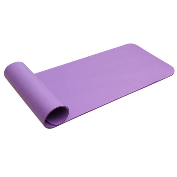 8mm Soft Yoga Mats Thickened High-grade NBR Pure Color Anti-skid Mats Fitness Supplies for Beginner Purple