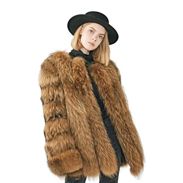 Acheter Hiver Chaud Long Manteau De Fourrure Femmes Luxe Nouveau Manteau De Fourrure De Chien De Raton Laveur Occasionnel À Manches Longues De $806.86